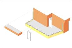 Isometría - Ampliación y nuevo acceso a terraza